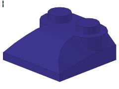 %47457 カーブスロープ[青紫]2x2x2/3