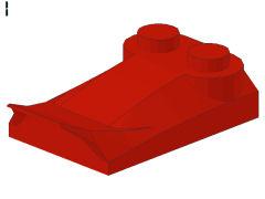 %47456 カーブスロープ[赤]2x3x2/3(ウィング)
