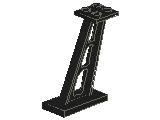 %4476 支柱[黒]2x4x5(傾斜あり)