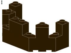 %6066 城壁トップ[濃茶]4x8x2.3