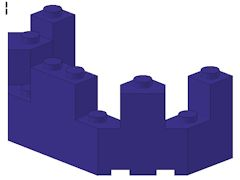 %6066 城壁トップ[青紫]4x8x2.3
