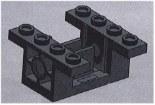 %6585 ギアーハウジング[黒]4x4x1.6