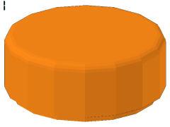 %98138 タイル[オレンジ]1x1(円)