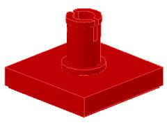%2460 タイル[赤]2x2上部ペグ付