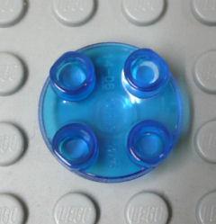 %2654 タイル[透明青]2x2(円 球面)