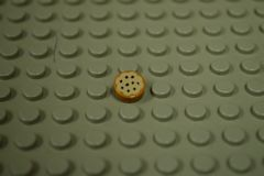 %98138 タイル[黄褐色]1x1(丸、クッキー)