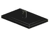 %4025 Bogie Plate[黒]