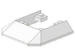 %2876 トレイン屋根[白]6x6(5方向傾斜)