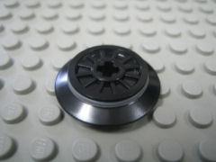 %55423 トレイン車輪[黒](フランジ、ゴムバンド付)