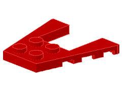%43719 ウェッジプレート[赤]4x4