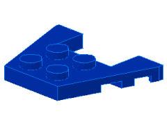 %48183 ウェッジプレート[青]3x4(ノッチ)