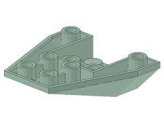 %4855 ウェッジ[緑灰]4x4(逆スロープ3方向傾斜)