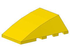 %47753 ウェッジ[黄]4x4(カーブスロープ、ポッチ無)