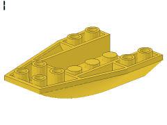 %43713 ウェッジ[黄]6x4(逆カーブスロープ)