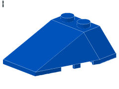 %48933 ウェッジ[青]4x4(3方向傾斜、ノッチ)