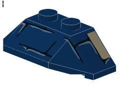 %47759 ウェッジ[紺]4x2(5方向傾斜、ブロック模様)