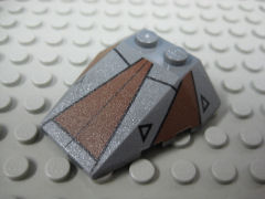 %48933 ウェッジ[新濃灰]4x4(3方向傾斜、ノッチ、#7957-1)