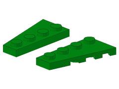 %41770 41769 ウェッジプレート[緑]2x4(左右ペア)