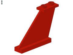 %2340 尾翼[赤]4x1x3