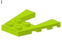 %43719 ウェッジプレート[黄緑]4x4