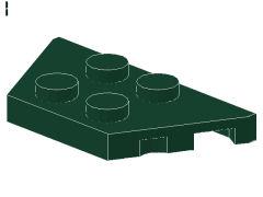 %51739 ウェッジプレート[濃緑]2x4