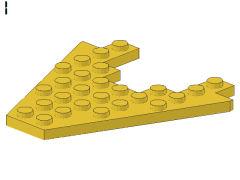 %6104 ウェッジプレート[黄]8x8(3x4切取り)