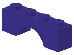 %3659 アーチ[青紫]1x4