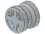 %4624 小型車輪[新灰](径8mm、小計軸)