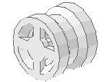 %4624 小型車輪[白](径8mm、小計軸)