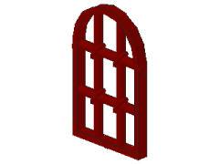 アーチ型窓[エンジ]1x2x2