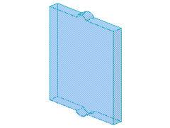 %60601 窓ガラス[透明水色]1x2x2(フラット)