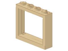 %60594 窓枠[タン]1x4x3(シャッタータブ無)