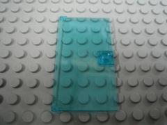 %60616 ドア[透明水色]1x4x6(取っ手付き)