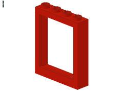 %6154 ドア枠[赤]1x4x4(リフト、%6155用)