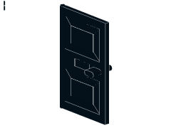 %4131 ドア[黒]1x4x5