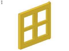 %4133 窓板枠[黄]1x4x3