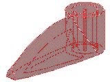 バイオニクルの牙[透明赤]1x3(軸穴)