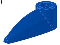 バイオニクルの牙[青]1x3(軸穴)