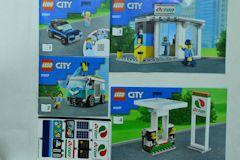 #60257 ガソリンスタンドの組立説明書(4冊、シール付)