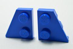 %24299 24307 ウェッジプレート[青]2x2(左右ペア)