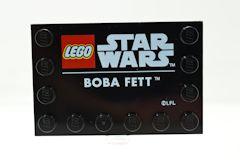 %6180 タイル[黒]4x6(端にポッチ、BOBA FETT)