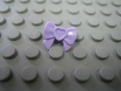 %11618 髪飾り[パステル薄紫](フレンズ、リボン、ハート)