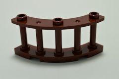 %21229 フェンス[新茶]4x4x2(縦軸、1/4円、ポッチ3個)