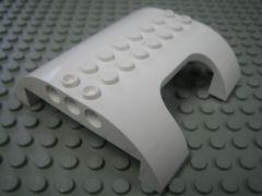 %54096 カーブスロープ[白]8x8x2(両側傾斜、一部切取り)
