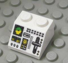 %3039 スロープ45度[白]2x2(コンソールボード、斜面:粒大)