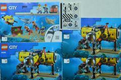 #60265 海底探査基地の組立説明書(4冊セット、シール付)