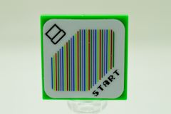 %3068b タイル[薄緑]2x2(START、ステッカー)
