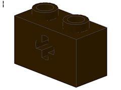 %32064 ビーム[濃茶]1x2(軸穴)