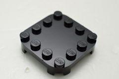 %66792 プレート[黒]4x4(ラウンドコーナー)