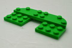 %73832 プレート[薄緑]4x8(ラウンドコーナー2箇所)